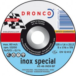 DISCO DRONCO AS46INOX 125X1,6X22,2 C.MET
