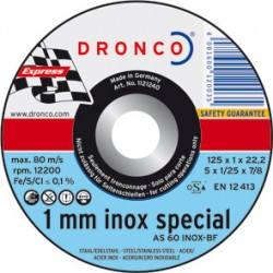 DISCO DRONCO AS60TINOX-BF 125X1X22,2PACK