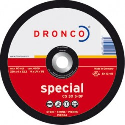 DISCO DRONCO CS30S 230X6,0X22,2 DESBASTE