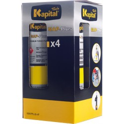 PACK 4 BOTELLAS GAS MAP-PLUS KMAPPLUS 1L