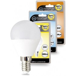 LAMPARA ESFERICA LED 6W E14 4000K