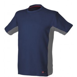 CAMISETA STRETCH 8175 AZUL/GRIS