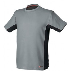 CAMISETA STRETCH 8175 GRIS/NEGRO