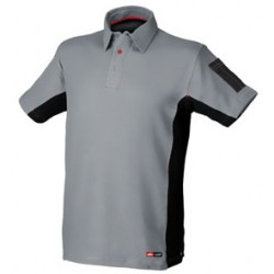 POLO STRETCH GRIS/NEGRO 8170