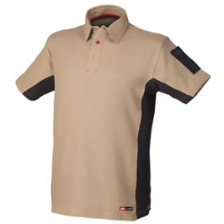 POLO STRETCH BEIGE/NEGRO 8170