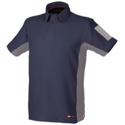 POLO STRETCH AZUL/GRIS 8170