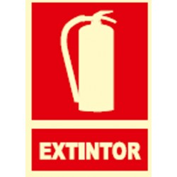 SEÑAL FOTOLUMINES.EXTINTOR EX001