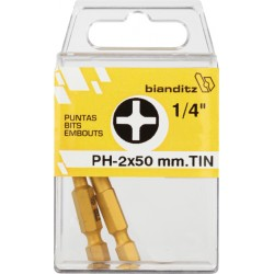 "BLISTER 02PUN.DES.239767 PH2X50 1/4"" TIN"